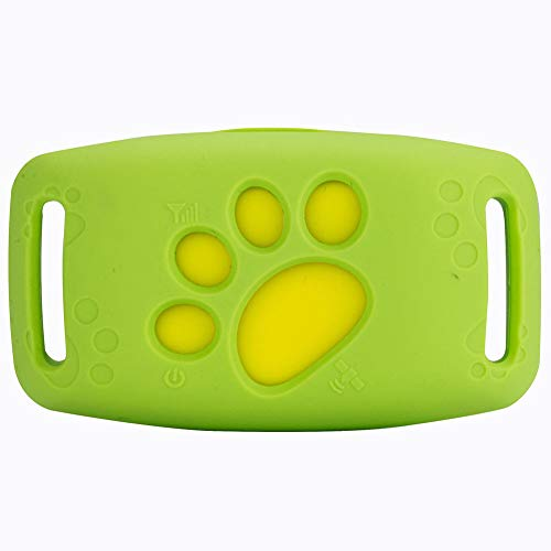 Ocamo Mini Wireless Pet GPS Locator Drop Resistant Smart Activity Tracker for Pet Travel Outdoor Green