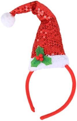 BESTOYARD Cappello Natalizio Fasce Costume Accessorio Accessorio Decorativo Paillettes per Capelli Cerchi Copricapo bomboniere (Rosso)