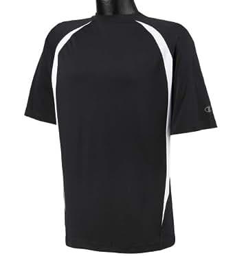 Champion Adult Double Dry® Elevation T-Shirt - Black/ White - M