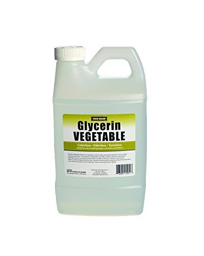Vegetable Glycerin - Half Gallon (64oz)- All Natural, Kosher, USP Grade - Premium Quality Glycerin, Excellent Emollient Qualities, Amazing Skin and Hair Benefits, DIY beauty products. (Supplier Sculpture Base)