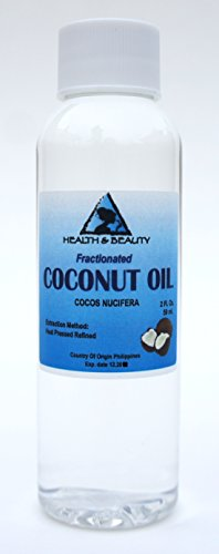 Coconut Oil Fractionated Organic Carrier Ultra Refined Premium 100% Pure 2 oz
