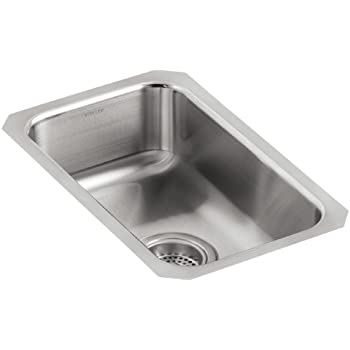 This Item Kohler K 3333 Na Undertone Small Squared Undercounter Kitchen Sink Stainless Steel
