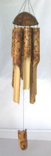 Burnt Flower Bamboo Windchime 37