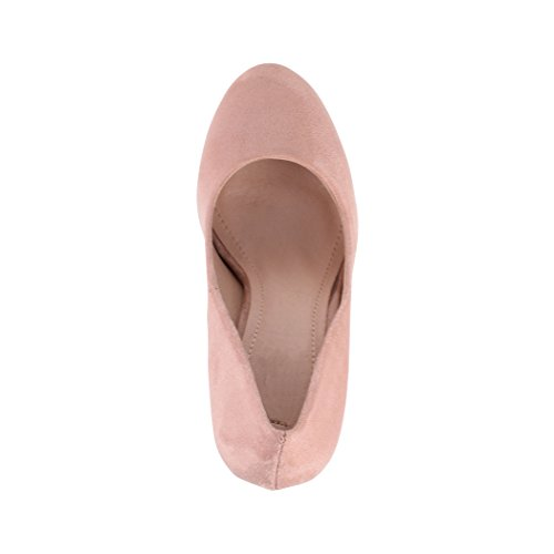 stiletto donna alto tacco con Beige Elara pump Milan scarpe plateau da con a wpvqT
