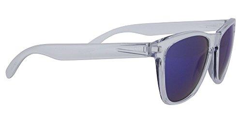 Gafas de sol de Calgary Mediterranean Blue montura transparente con cristal espejo degradado azul,