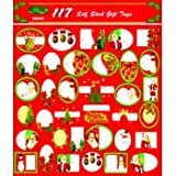 Ddi - Christmas Gift Tags - 117 assorted designs (1 pack of 72 items)