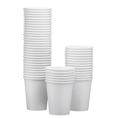 White Paper Hot Cup, 12 Ounce Capacity (Pack of 50) -