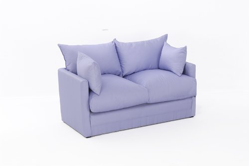 Leanne Sofa Bed in LILAC Cotton Drill Comfy Living