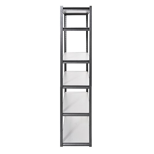 Muscle Rack UR4818HPSVL6 Boltless Storage Rack with 6 Shelves, 3000 lb Capacity, 48'' Width x 84'' Height x 18'' Depth, Silvervein by Muscle Rack (Image #2)