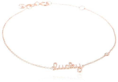 """Shy by SE """"Lucky"""" Bracelet with Diamond Bezel, Rose"""
