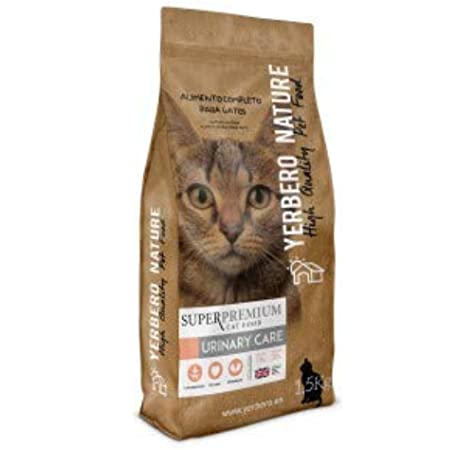 YERBERO Nature Urinary Care Comida Superpremium para Gatos 1,5kg: Amazon.es: Productos para mascotas