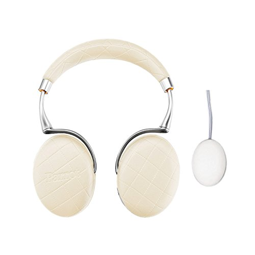Parrot Zik 3 Wireless Noise Cancelling Headphones With Parrot Wireless Charge Accessory in Matching Color (Ivory Overstitched) by Parrot