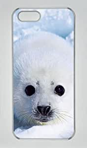 Cute Baby Seal 001 Iphone 5 5S Hard Shell with Transparent Edges Cover Case by Lilyshouse