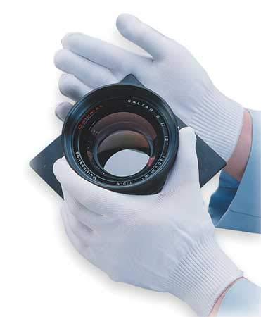 Inspection Gloves, White, Nylon, S, PK12