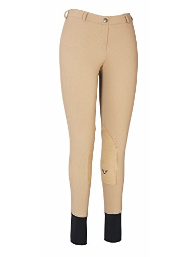 (TuffRider Women's Ribb Lowrise Pull-On Breeches, Taupe, 32 )