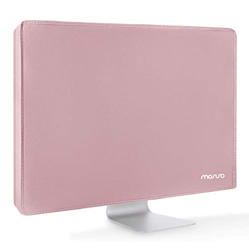 MOSISO Monitor Dust Cover 32, 33, 34, 35 inch Anti-Static Polyester LCD/LED/HD Panel Case Screen Display Protective Sleeve Compatible with 32-34 inch iMac, PC, Desktop Computer and TV, Pink