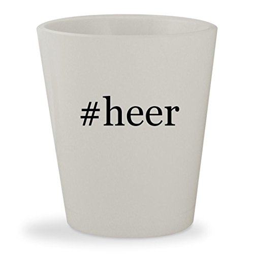 #heer - White Hashtag Ceramic 1.5oz Shot (Heering Cherry Liqueur)