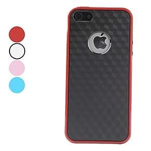 ZXM-Carcasa de Rombos Brillosos para el iPhone 5 - Colores Surtidos , Rojo