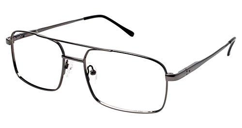 LAmy C by L'AMY 614 Eyeglass Frames - Frame GUNMETAL, Size -