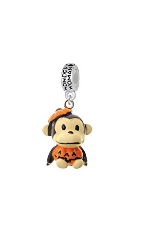 [Resin Monkey in Pumpkin Costume - Wonder Woman Charm Bead] (Monkey See Monkey Do Costume)