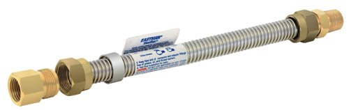 - Eastman 425472 CSA-Certified Uncoated Stainless Steel Gas Connector, 1/2-Inch FIP X 1/2-Inch MIP, 5/8-Inch OD, 72-Inch Length