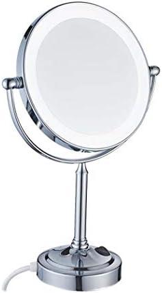 21のLEDライト、360回転機能シェービング用ミラー/化粧鏡付き8インチLEDバニティミラー付きライト、3倍/ 5倍/ 7倍倍率バスルームビューティーミラー W1XX (Color : White light, Size : 7x)