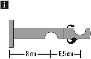 Einzelprogramm Windsor Gardinia Kombitr/äger 2-Lauf offen f/ür /Ø 25//25 mm Bronze 8//6 cm