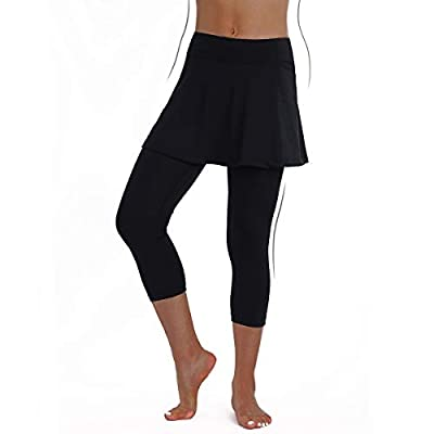 ANIVIVO Skirted Legging for Women, Legging with Skorts &Women Tennis Clothes: Clothing