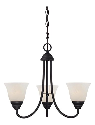 Amazon.com: Bronce aceitado Kendall 3 luz 1 Tier Mini ...