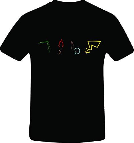 Four pokemon outline, Custom Tshirt Photo - Pokemon Gaming
