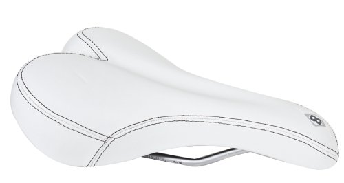 Origin8 Sport Uno-S Saddle, White (White Bike Seat)