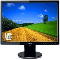 Black ASUS 20in Wide screen LED Computer LCD Monitor , 250 cd/m2, 100