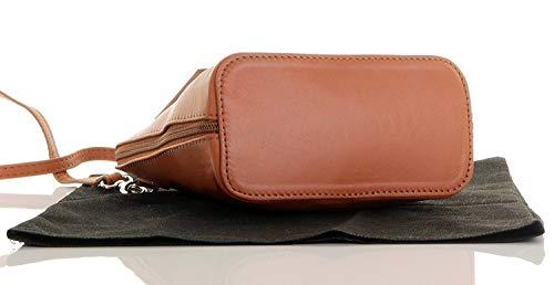 Tan Cross Shoulder Primo Made Bag Sacchi or Leather Italian Bag Body Micro Handbag Small Soft Hand 8Zq8r