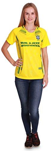 Women's Brazil World Cup 2018 Soccer Jersey, Women Size L/XL