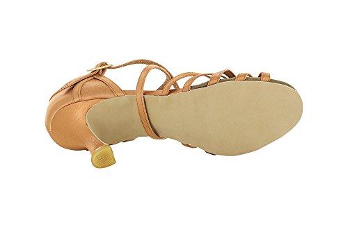 Scarpa da ballo donna 5 fasce e 5 nodini autoregolabili in raso flesh tc cm 7,5