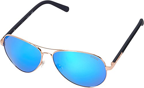 GUESS Men's Metal Aviator Sunglasses, 28X, 62 - Guess Sunglasses Protection Uv