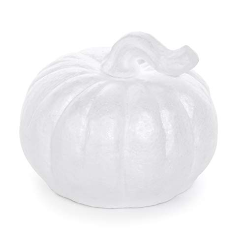 DARICE 30015744 Durafoam Pumpkin: White, 6.75 inches -