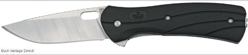 Buck Vantage TM Select Knife (Black/Silver, Large), Outdoor Stuffs