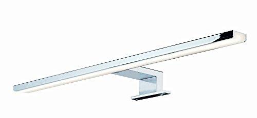 GedoTec® LED Spiegelleuchte Anbauleuchte Badleuchte Leuchte AALTO Aluminium Stahl chrom poliert | Energieeffizienz A++ | warmweiß 3000 (Länge 300 mm)