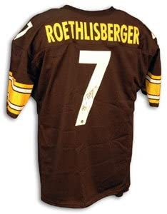 2f6b0550778 Ben Roethlisberger Signed Steelers Black Throwback Jersey with new style  number at Amazon's Sports Collectibles Store