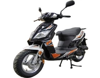 SMART DEALSNOW brings Brand new Tao Tao Thunder 50 Gas Street Legal Scooter with matching trunk - Sporty Black by TAO (Image #7)