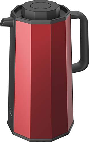 Zojirushi AH-EAE10RA Glass Vacuum Carafe, 1.0 Liter, Red