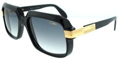 Cazal 607-001 SG Square Sunglasses,Black Frame/Grey Gradient Lens,56 - Round Cazal