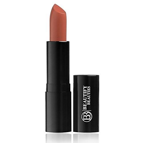Luxury Matte Lipstick by Beautify Beauties, Ultra-longwear, modern matte finish, high pigment for beautiful lips (Caramel Soufflé)