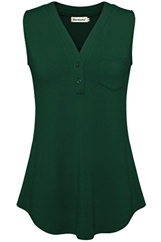 Women's Sleeveless Blouse (Green) - 4