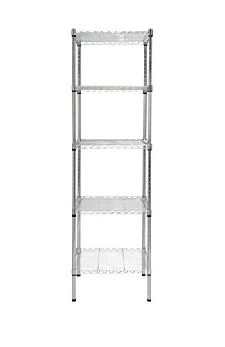 (Finnhomy Heavy Duty 5 Tier Wire Shelving Unit NSF Certified 5 Shelves Storage Rack Thicken Steel Tube)