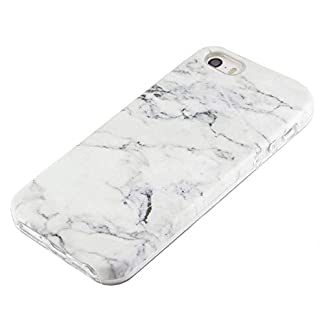 039dc4cc0 uCOLOR White Marble Case for iPhone SE 5S 5 Protective Dual-Layer Hard PC +  Soft TPU Tough Case for iPhone SE 5S 5