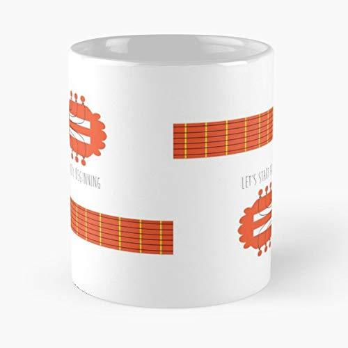 Sound Of Music Quote Lyrics Guitar - Ceramic Novelty Mugs 11 Oz, Funny Gift