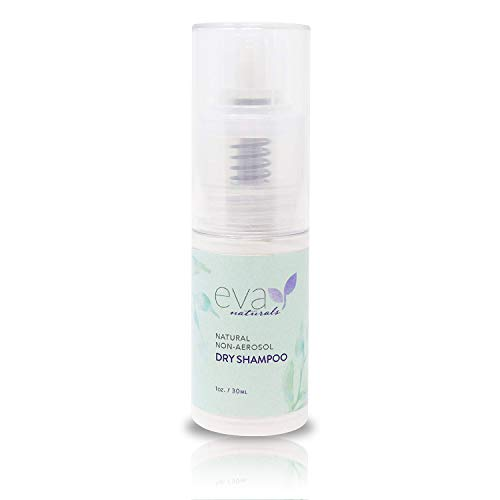 Eva Naturals Non-Aerosol Dry Shampoo (1oz) - Travel Size Hair Texture Spray Absorbs Oil, Adds Volume and Naturally Deodorizes - Includes Aloe, Vitamins C and B5 - Talc and Aluminum Free