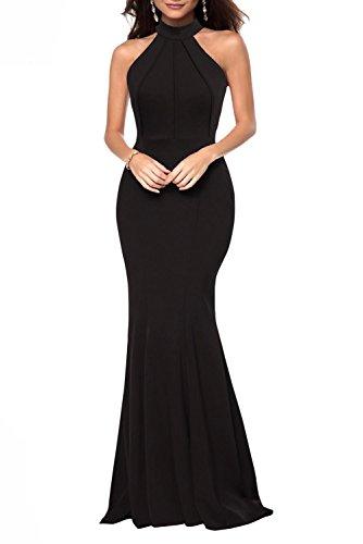 Jual Berydress Women s Sleeveless Halter Neck A-Line Casual Party ... 236355d7d700
